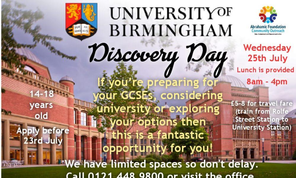 University Discovery Day, UoB