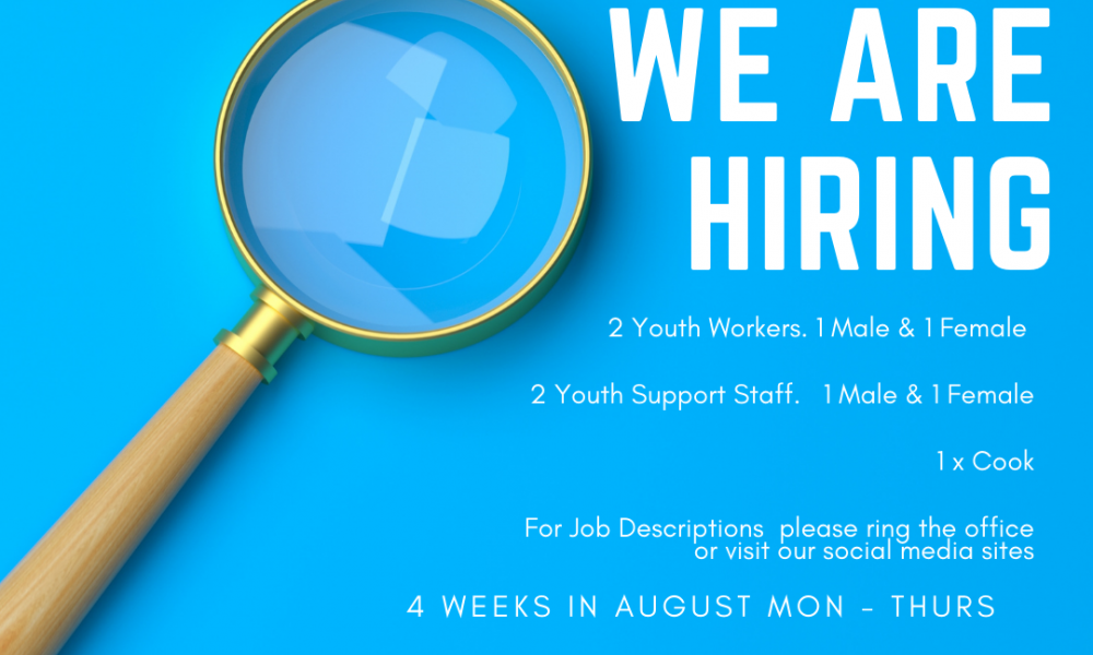 We are recruiting sessional staff for our summer youth scheme